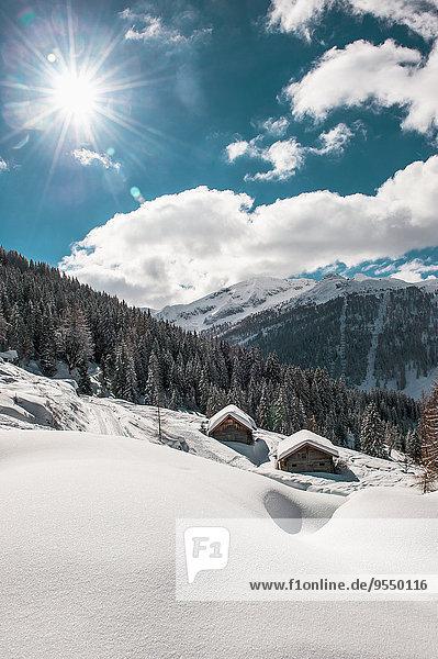 Österreich  Salzburger Land  Altenmarkt-Zauchensee  Skigebiet bei Sonnenlicht