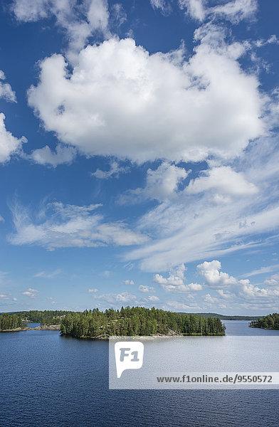 Finnland  Südsavonien  Mikkeli  Saimaa-See mit Insel