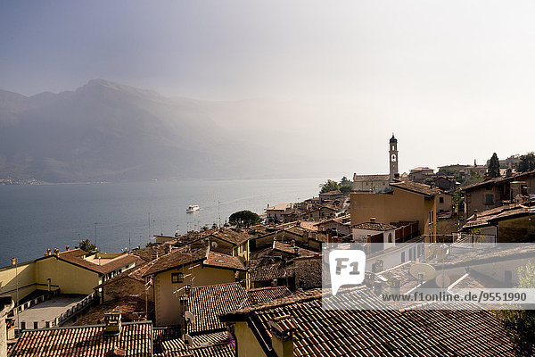 Italy  Lombardy  Brecia  Limone sul Garda  View over rooftops of the city