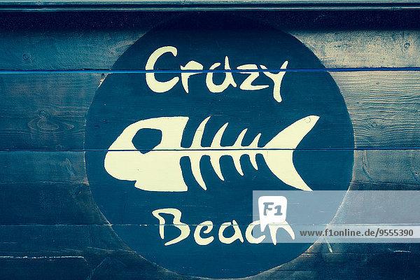 Italy  Friuli-Venezia Giulia  Grado  crazy beach sign