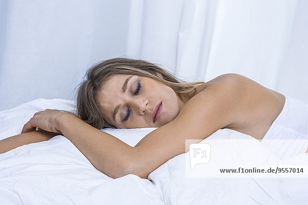 Sleeping blond woman