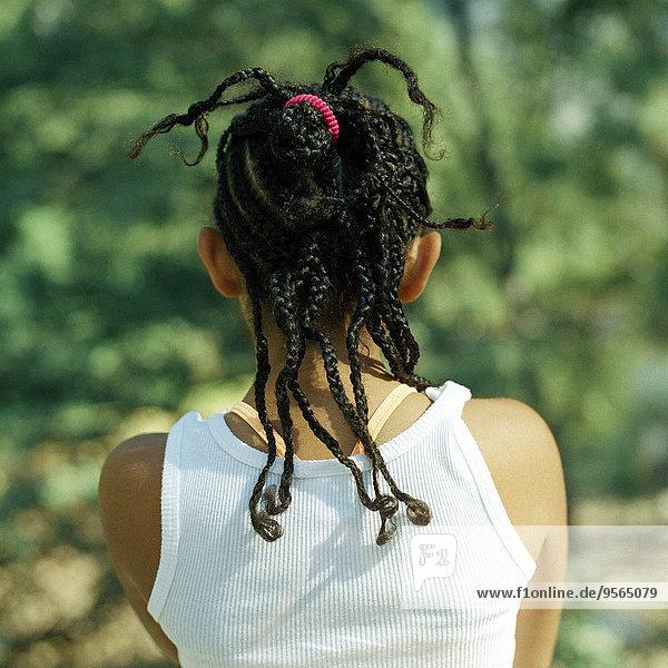 hinter,Geflochtener Zopf,Haar
