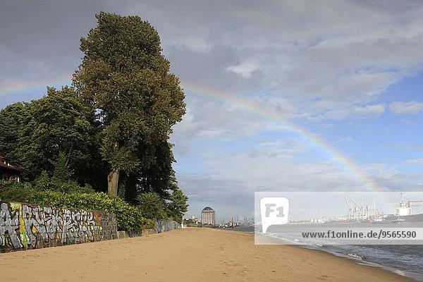 Strand,über,Regenbogen