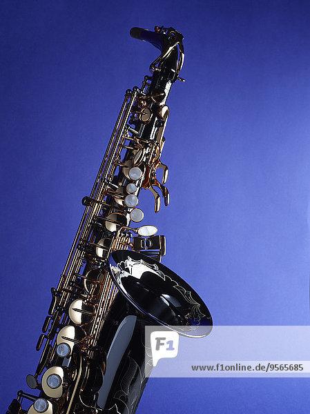 Hintergrund,Close-up,blau,Saxophon