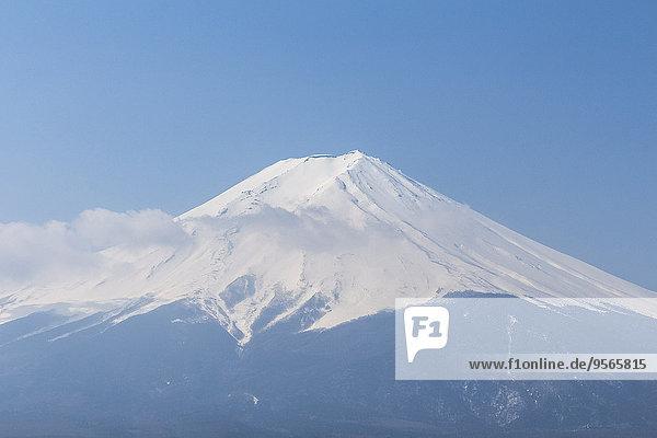 Landschaftlich schön,landschaftlich reizvoll,durchsichtig,transparent,transparente,transparentes,Himmel,blauer Himmel,wolkenloser Himmel,wolkenlos,blau,Ansicht,Berg,Fuji