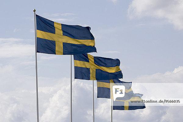 Wolke,Himmel,Stange,Fahne,schwedisch
