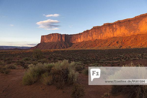 Felsbrocken Vereinigte Staaten von Amerika USA Wüste Anordnung Ignoranz Monument Valley Utah