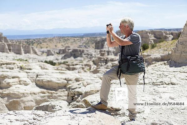 Felsbrocken Europäer Mann Vereinigte Staaten von Amerika USA Anordnung fotografieren alt