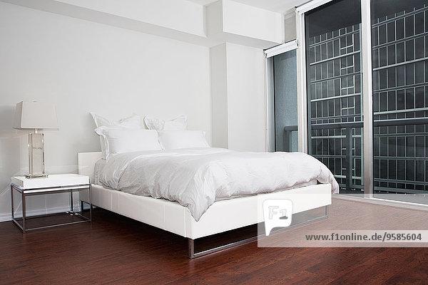Nacht Schlafzimmer Bett Tisch modern