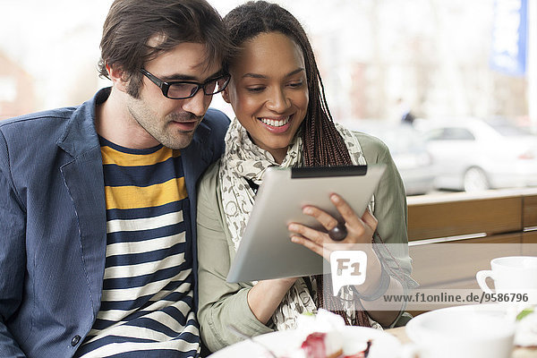 benutzen Cafe Tablet PC