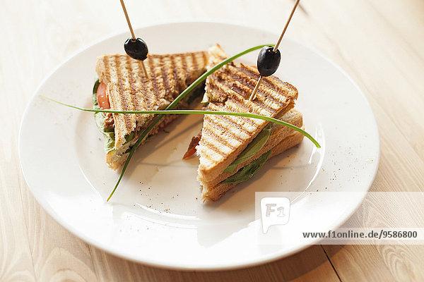 Close-up Teller Sandwich