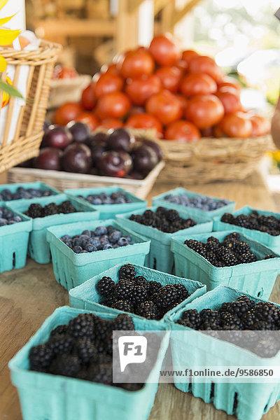 Frische Frucht Close-up Landwirtin Markt