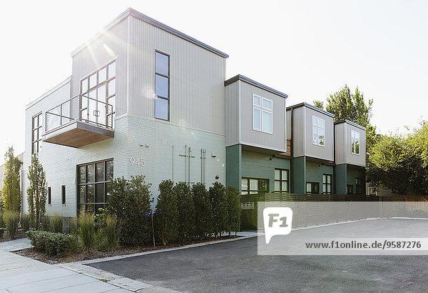 Gebäude parken Eigentumswohnung modern