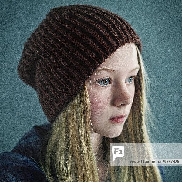 Jugendlicher Mütze Kleidung stricken Mädchen