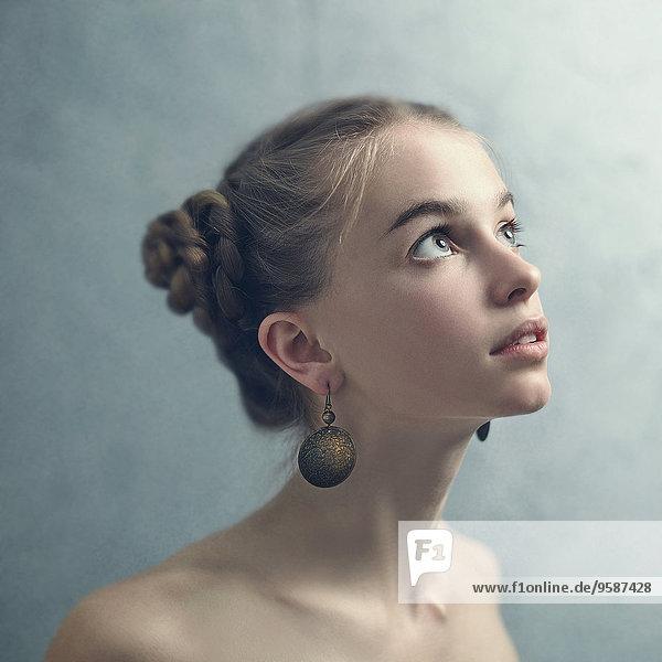 Jugendlicher baumeln Geflochtener Zopf Kleidung Ohrring Mädchen Haar Jugendlicher,baumeln,Geflochtener Zopf,Kleidung,Ohrring,Mädchen,Haar
