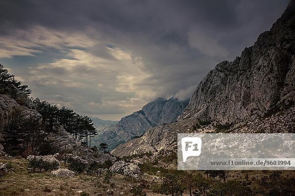 Gebirge Nationalpark Tal Kroatien Gebirgszug