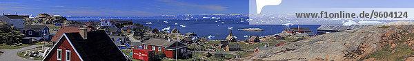 Panorama Ecke Ecken Dorf Nordpolarmeer Nördliches Eismeer Arktik Arktischer Ozean Grönland