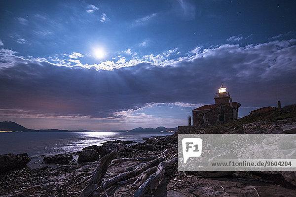 Nacht Leuchtturm Kroatien Dalmatien