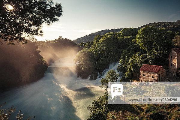 Nationalpark Fluss Wassermühle Kroatien