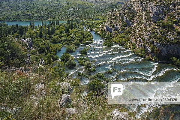 Ereignis Wasserfall schlagen Kroatien