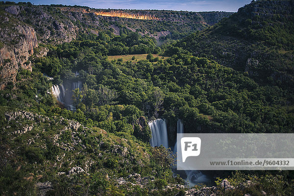 Woodland with Manojlovac waterfall,  Krka National Park,  Croatia
