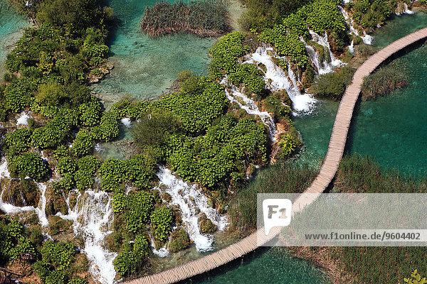 Nationalpark, See, Ansicht, Luftbild, Fernsehantenne, Kroatien