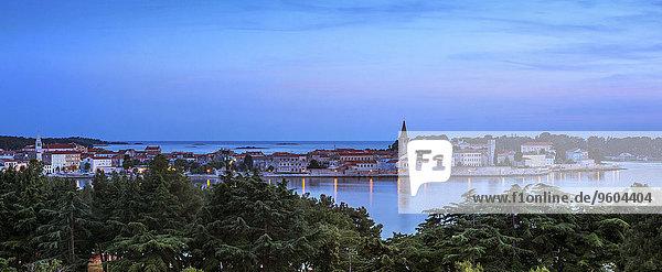 Sonnenuntergang Großstadt Kroatien Istrien