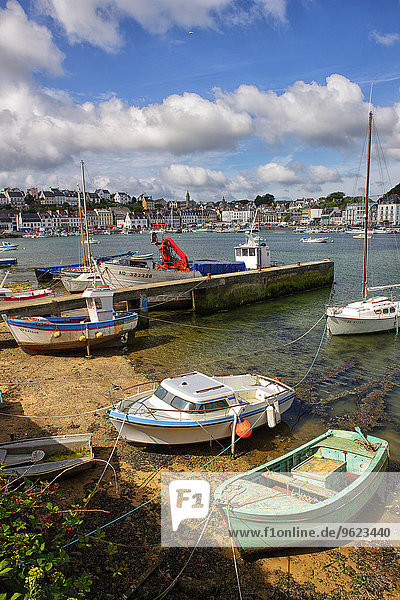 France  Brittany  Audierne  Boats at harbour