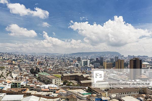 Ecuador  Quito  cityscape