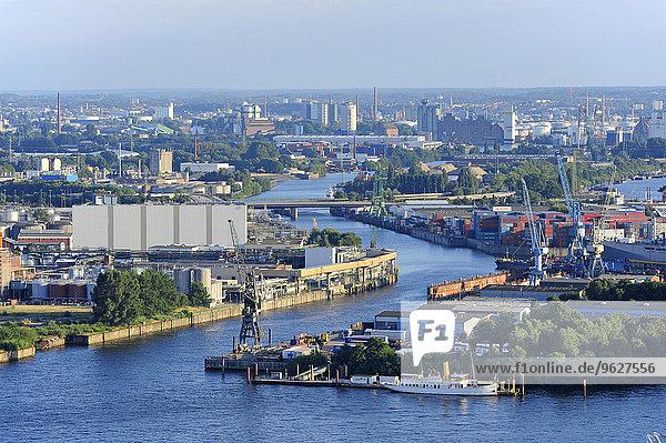 Deutschland  Hamburg  Steinwerder  Hafen und Elbe