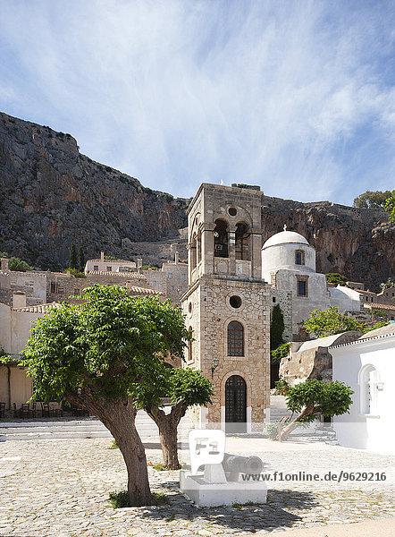 Griechenland  Monemvasia  Glockenturm der griechisch-orthodoxen Kirche Christi Elkomenos