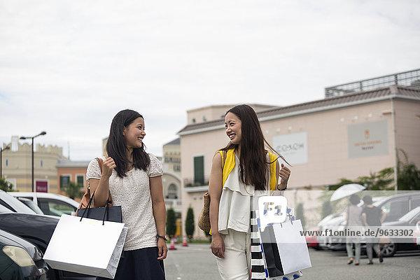 Reise, kaufen, Tochter, Mutter - Mensch
