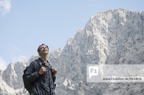 Man portrait mountains trekking summer