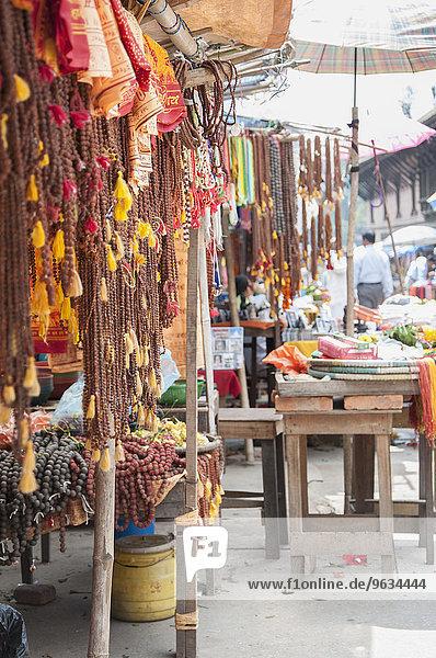 Market stall colourful religious souvenirs