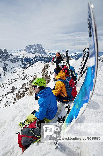 Men on a ski tour