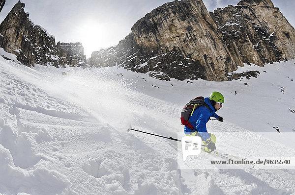 Mann Skisport