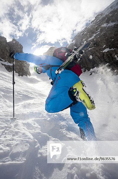 Skier at Sella mountains