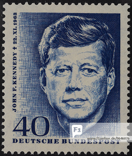 John F. Kennedy  Präsident der USA  deutsche Sonderbriefmarke  1964