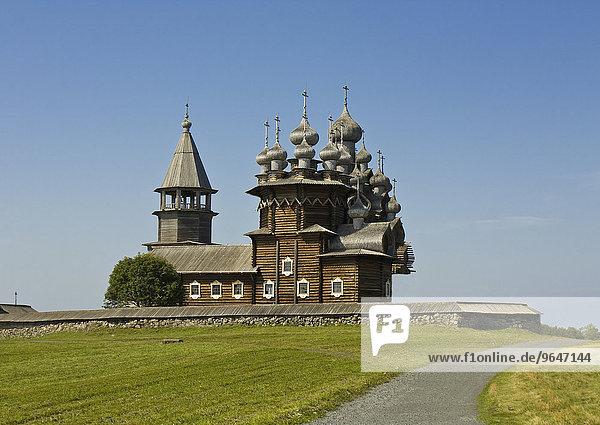 Alte Holzkirche  UNESCO Weltkulturerbe  Kischi Pogost  Insel Kischi  Onegasee  Karelien  Russland  Europa
