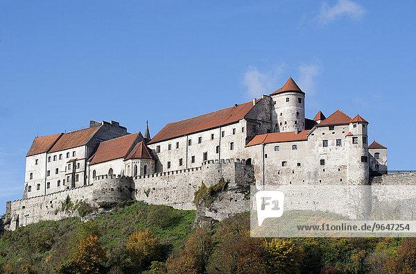 Hauptburg der Burg zu Burghausen  Burghausen  Oberbayern  Bayern  Deutschland  Europa