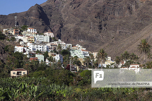 Bergdorf  La Calera  Valle Gran Rey  La Gomera  Kanarische Inseln  Spanien  Europa