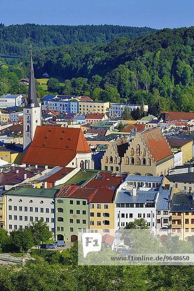 Marienkirche  Wasserburg am Inn  Oberbayern  Bayern  Deutschland  Europa