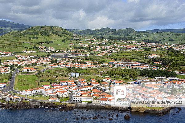 Ortsansicht  Horta  Faial  Azoren  Portugal  Europa