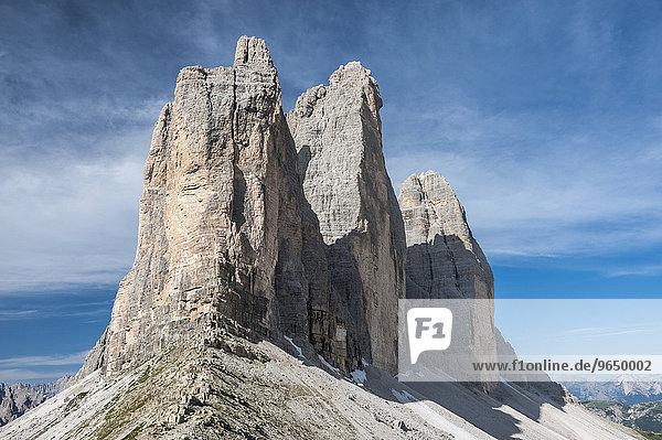 Drei Zinnen  Nordwände  Sextner Dolomiten  Südtirol  Auronzo di Cadore  Trentino-Alto Adige  Italien  Europa