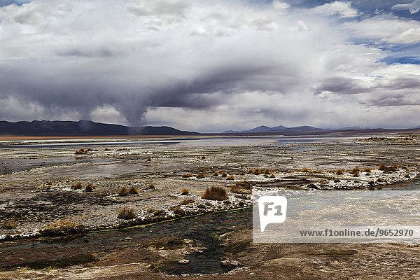 Termas de Polques  heiße Quellen  bolivianische Hochebene  Altiplano  Bolivien  Südamerika