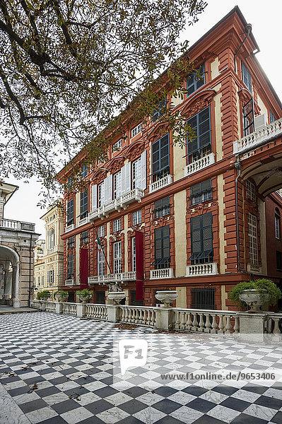 Palazzo Rosso  Via Garibaldi  UNESCO Weltkulturerbe  Genua  Ligurien  Italien  Europa