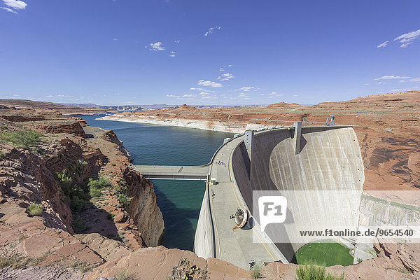 Glen Canyon Dam and Lake Powell  Page  Arizona  United States  North America