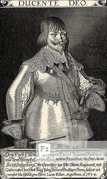 Johann Georg Aus dem Winckel or Winkel  1596-1639  Privy Council of War  historical portrait