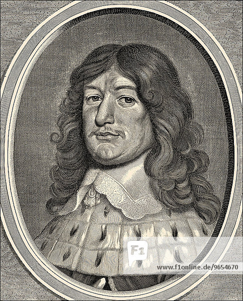 Frederick William  Elector of Brandenburg  1620-1688  from the House of Hohenzollern  Margrave of Brandenburg  Chamberlain and Elector of the Holy Roman Empire and Duke of Prussia  historical illustration