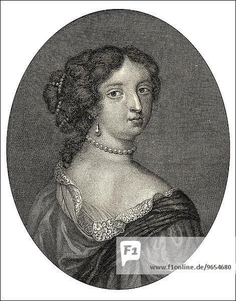 Françoise d'Aubigné  Marquise de Maintenon  or Madame de Maintenon  1635-1719  the last mistress and second wife of Louis XIV of France  historical illustration